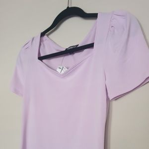 Lilac colored Express shirt